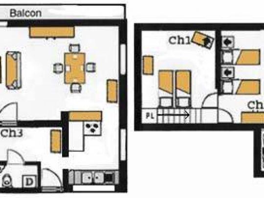 Plan de l'appartement Campanule