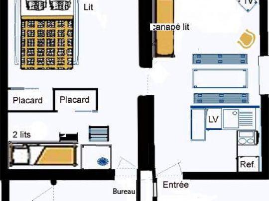 Edelweiss Plan de l'appartement