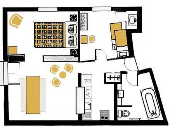 Gentiane Plan de l'appartement