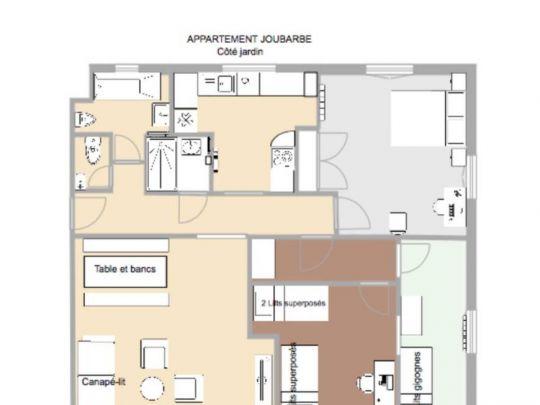 Joubarbe Plan appartement